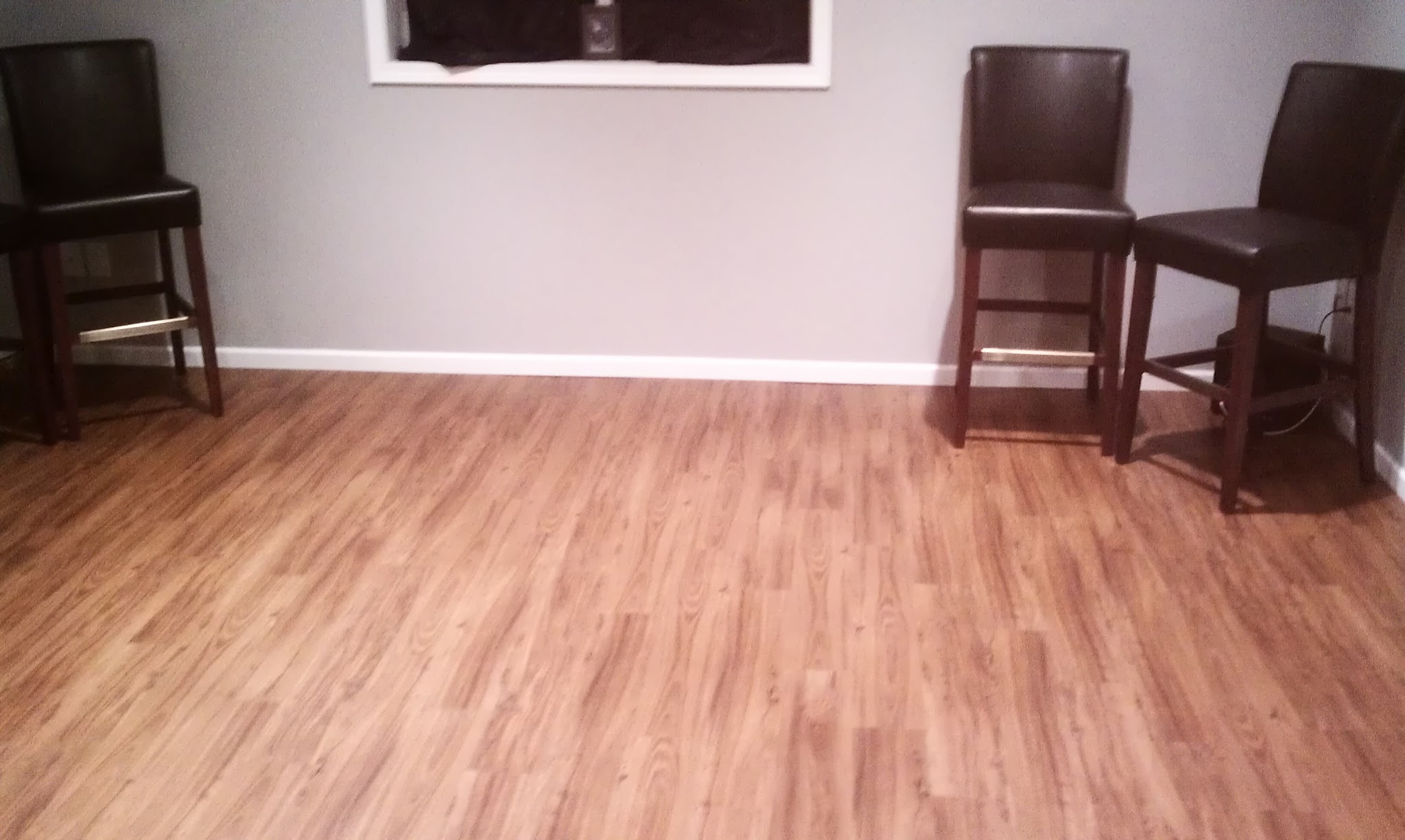 Beautiful Vinyl Flooring In Basement. This ...