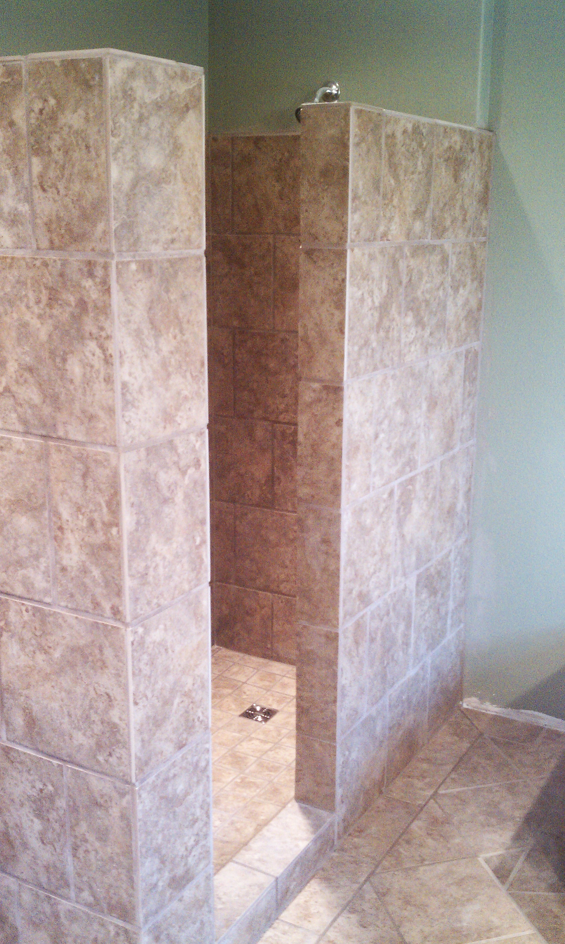 Tile Shower and Floor - Ullom Construction & Snow Removal ...