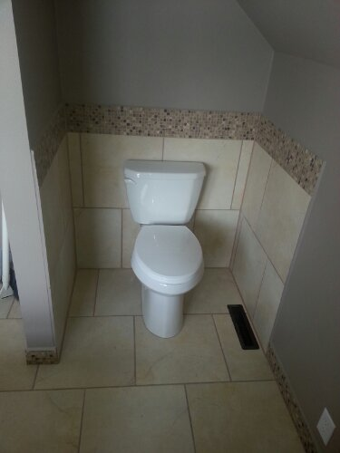 Image We Put A Tile Surround Around The Toilet